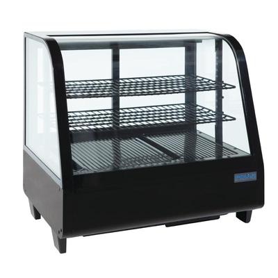 Vitrine réfrigérée de comptoir 100L noire