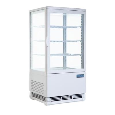 Vitrine réfrigérée blanche 68L