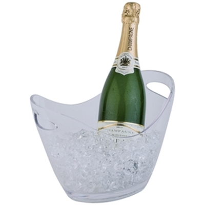 Seau à vin ou champagne APS transparent 2 bouteilles