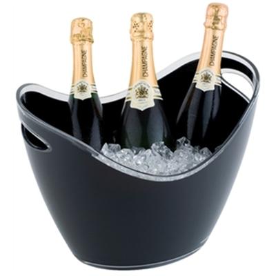 Seau à vin ou champagne APS noir 3 bouteilles
