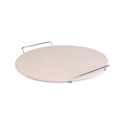 Pierre à pizza ronde avec support métal de service 380mm (Ø)