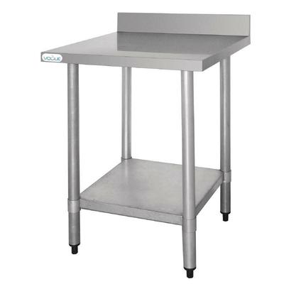 Table De Travail inox Avec Étagère et Rebord 600x600x960(h)mm
