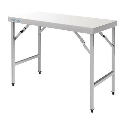 Grande table pliante inox 1800(l)x600(p)x900(h)mm