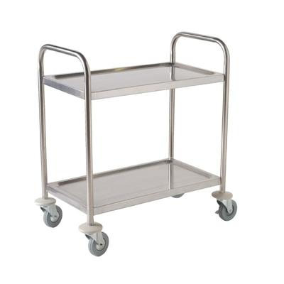 Petit chariot de débarrassage 2 niveaux 825(H) x 710(L) x 405(P)mm