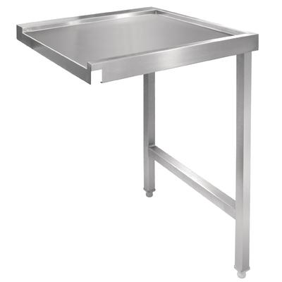 Table de sortie droite pour lave-vaisselle à capot 600mm