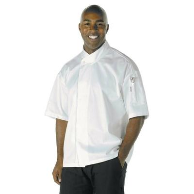 Veste de boucher Cool Vent unisexe Tours blanche
