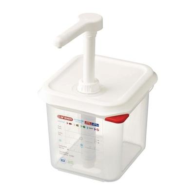 Distributeur de sauce Araven GN 1/6 transparent 2.6L
