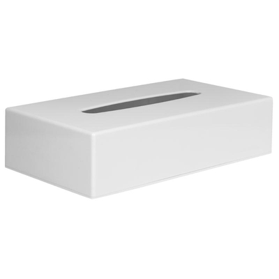 Boîte à mouchoirs rectangulaire blanche