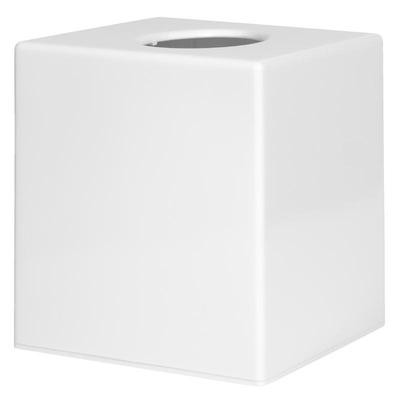 Boîte à mouchoirs carrée blanche