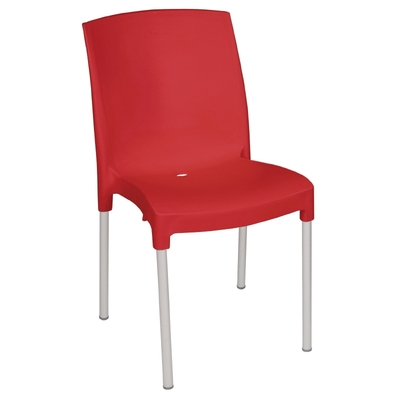 Chaises bistro empilables rouges par 4