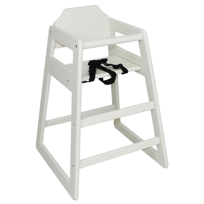Chaises haute en bois blanche