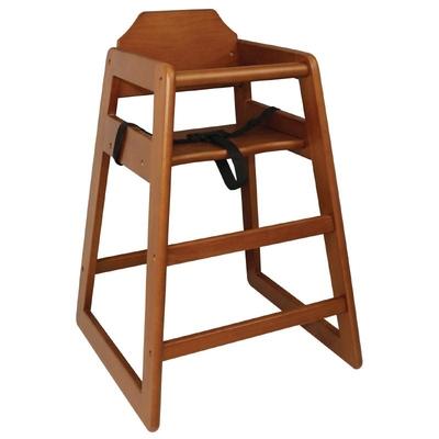 Chaise haute en bois finition bois foncé