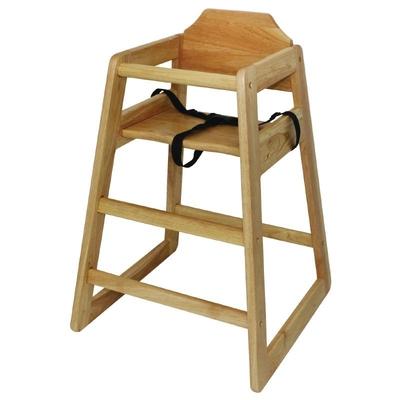 Chaise haute en bois finition naturelle