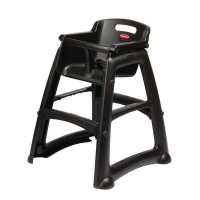 Chaise haute très robuste noire Rubbermaid