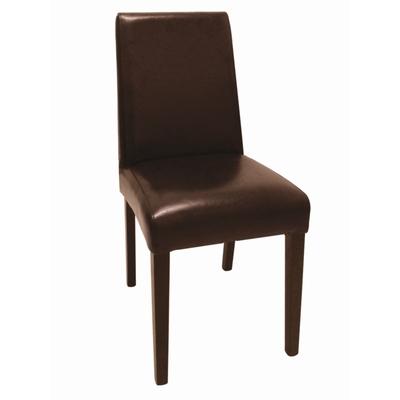 Chaises en simili cuir marron foncé par 2