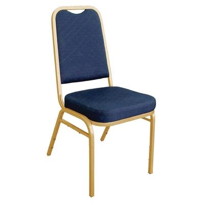 Chaises de banquet à dossier carré bleues x4
