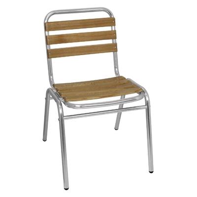 Chaises bistro frêne et aluminium par 4