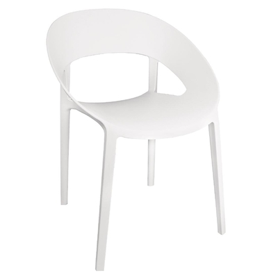 Chaise enveloppante en PP blanche lot de 4
