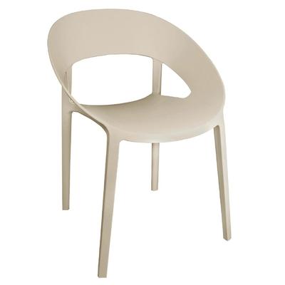 Chaise enveloppante en PP beige lot de 4