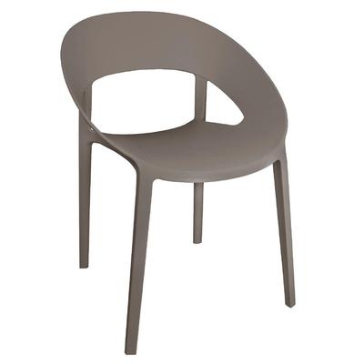 Chaise enveloppante en PP café lot de 4