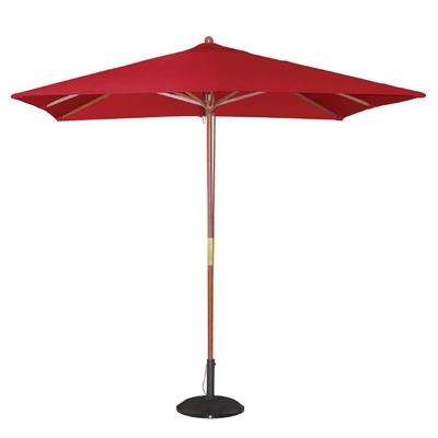 Parasol carré 2,5m rouge