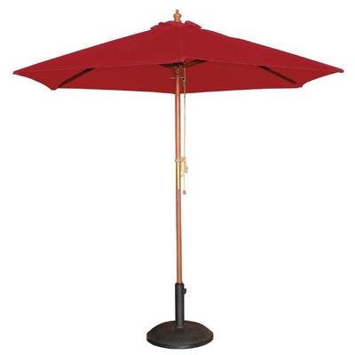 Parasol rond 2,5m rouge