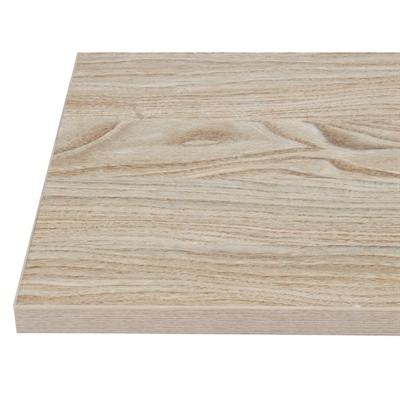 Plateau de table carré 600mm effet bois clair