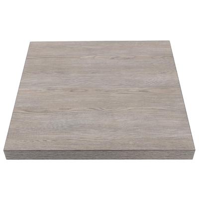 Plateau de table carré 600mm effet bois gris