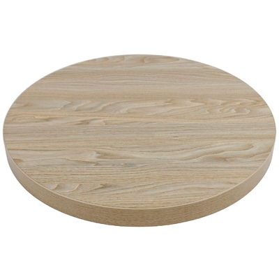 Plateau de table rond 600mm épaisseur 48mm effet bois clair