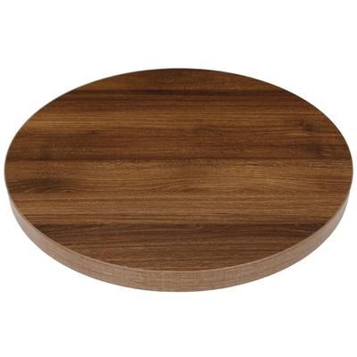 Plateau de table rond 600mm épaisseur 48mm effet bois chêne rustique