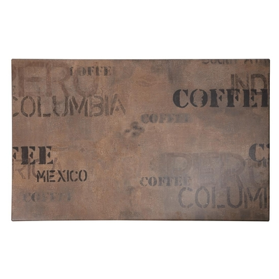 Plateau de table rectangulaire Werzalit coffee 1100mm