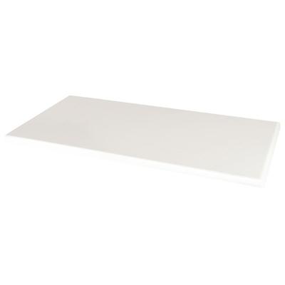 Plateau de table rectangulaire Werzalit blanc 1100mm
