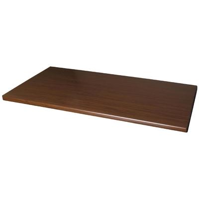 Plateau de table rectangulaire Werzalit noyer 1100mm