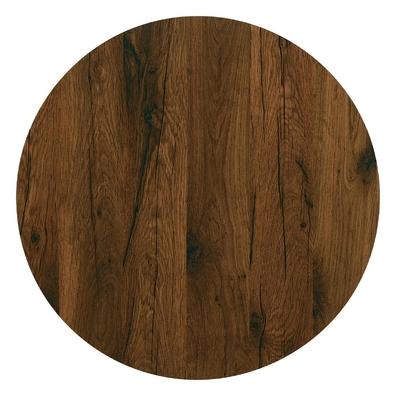 Plateau de table rond 700mm Werzalit chêne antique