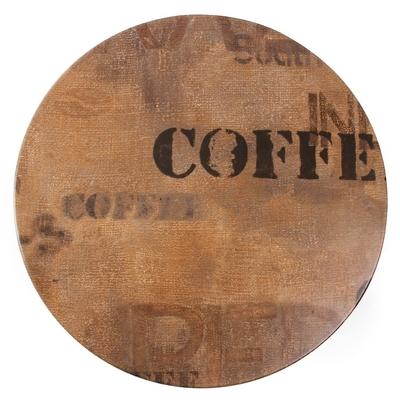 Plateau de table rond Werzalit coffee 800mm