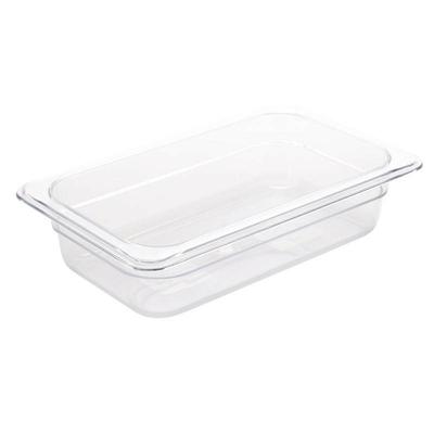 Bac Gastronorme en polycarbonate transparent un quart 65mm GN 1/4