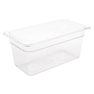 Bac Gastronorme en polycarbonate transparent un tiers 150mm GN 1/3