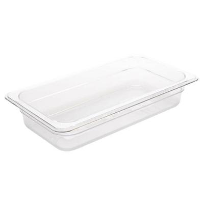Bac Gastronorme en polycarbonate transparent un tiers 65mm GN 1/3