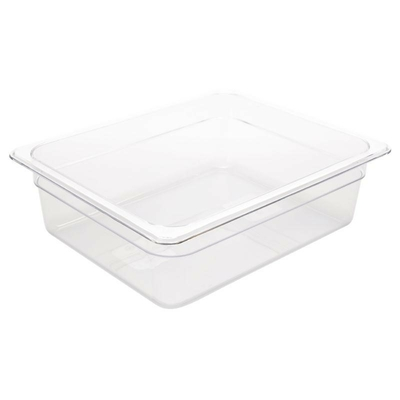 Bac Gastronorme en polycarbonate transparent un demi 100mm GN 1/2