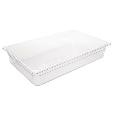 Bac Gastronorme en polycarbonate transparent 100mm GN 1/1