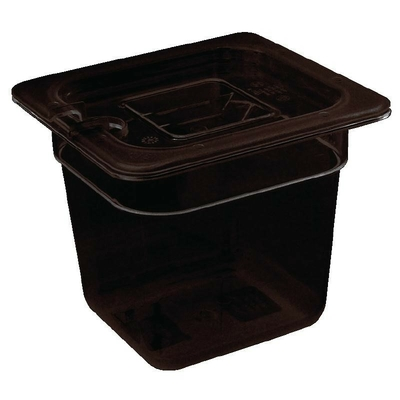 Bac Gastronorme en polycarbonate noir un sixième 65mm GN 1/6