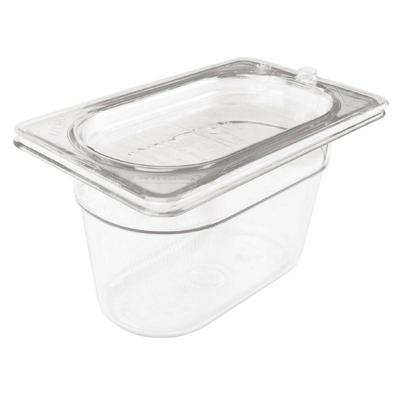 Bac Gastronorme en polycarbonate transparent un neuvième 65mm Rubbermaid