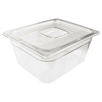Bac Gastronorme en polycarbonate transparent un demi 100mm Rubbermaid