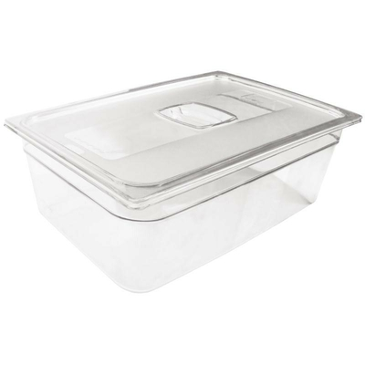 Bac Gastronorme en polycarbonate transparent taille standard 100mm Rubbermaid