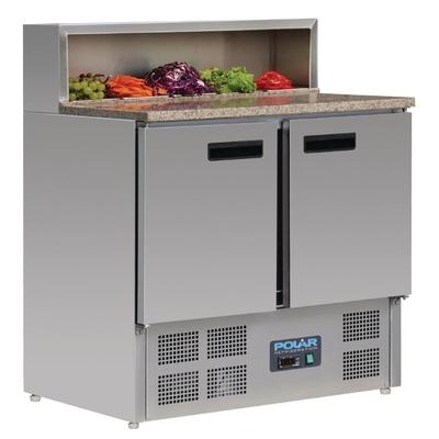 Comptoir de préparation saladette réfrigéré à pizzas 288L