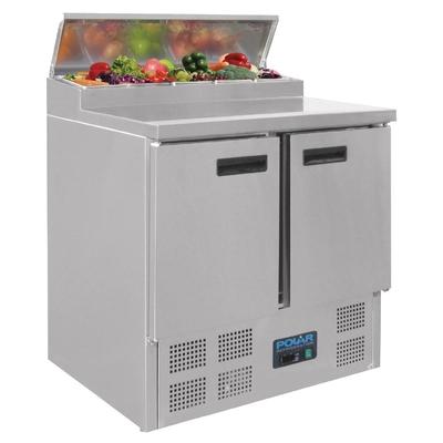 Comptoir de préparation réfrigéré pizzas saladette 254L