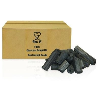 Briquettes de charbon de bois qualité restaurant Big K 80L-10kg