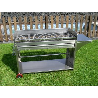 Barbecue professionnel 115cm en acier inoxydable gril à charbon en acier inoxydable