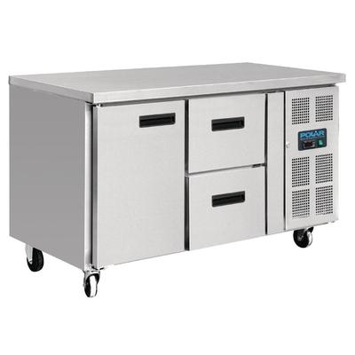 Table réfrigérée 1 porte 2 tiroirs 228L Polar