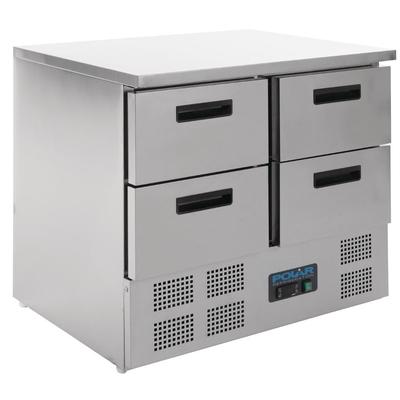 Table réfrigérée compacte 4 portes 240L Polar